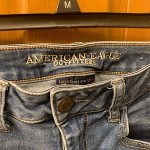 American Eagle Outfitters Jeans - AE Medium Wash Distressed Jegging